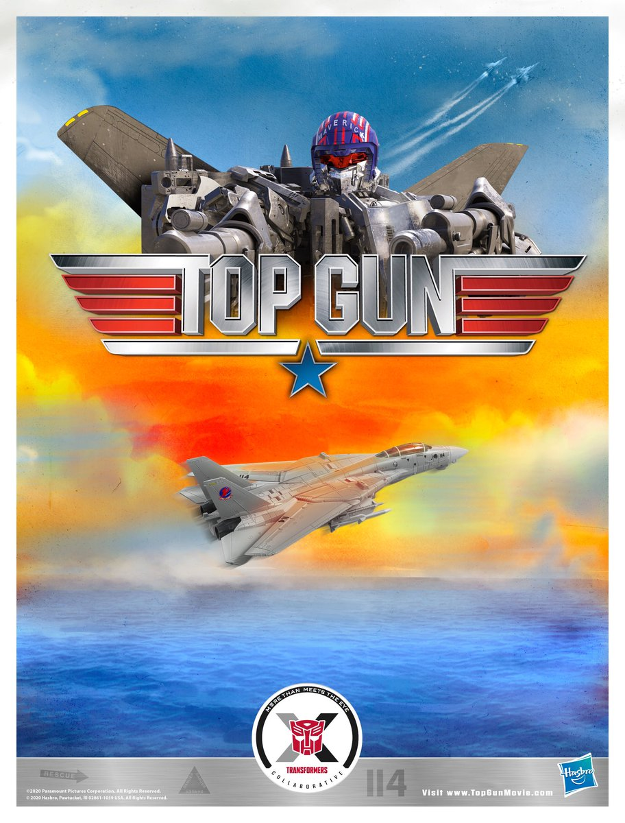 He feels the need...THE NEED FOR SPEED! Maverick converts into the classic Northrop Grumman F-14 Tomcat from @TopGunMovie and is the latest #Transformers collaboration...and yes, a volleyball IS included! PREORDER NOW at #HasbroPulse: https://t.co/qKrO4vFM77 https://t.co/vrFPsd1o4p