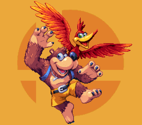 So happy they came back for Smash!  #pixelart #SmashBrospic.twitter.com/51kYjFmzoo