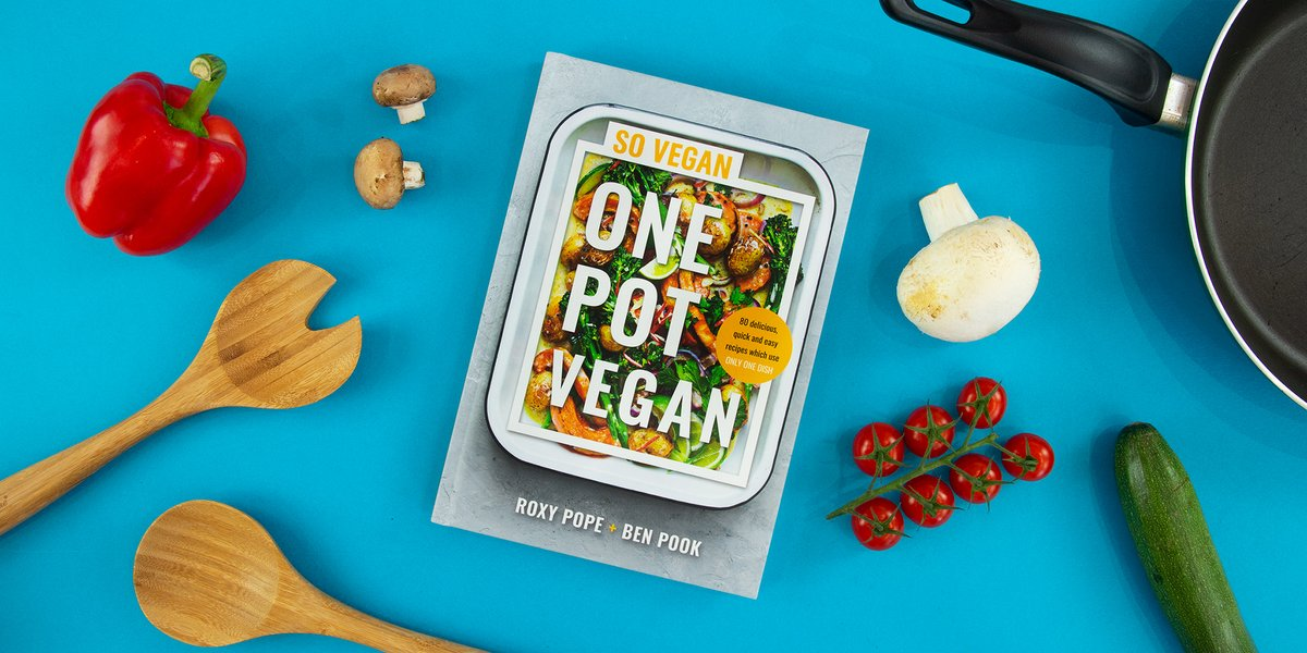 #OnePotVegan is out TOMORROW! @wearesovegan  Packed with 80 delicious & simple recipes like Peanut Butter Swirl Brownies, Whole-Roasted Katsu Cauliflower, Sweet Potato Thai Green Curry, & Cheat's Pizza, this is a must-have for any kitchen.  Pre-order now:
