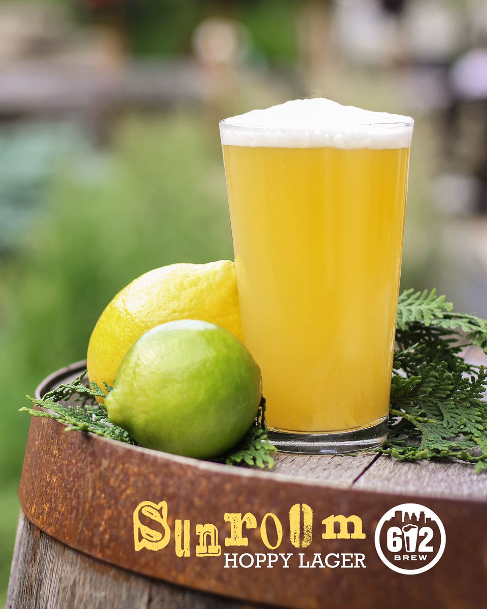 How great is summer in MN?  Pretty tasty if ya ask us. 😉🍻 Take advantage of the season & hit up the patio for our new hoppy lager. Sunroom, a refreshing hazy summer lager assertively dank for hop heads but with a slight citrus twist. Don the flip flops and grab the sunglasses. https://t.co/7gjkSsiqAd