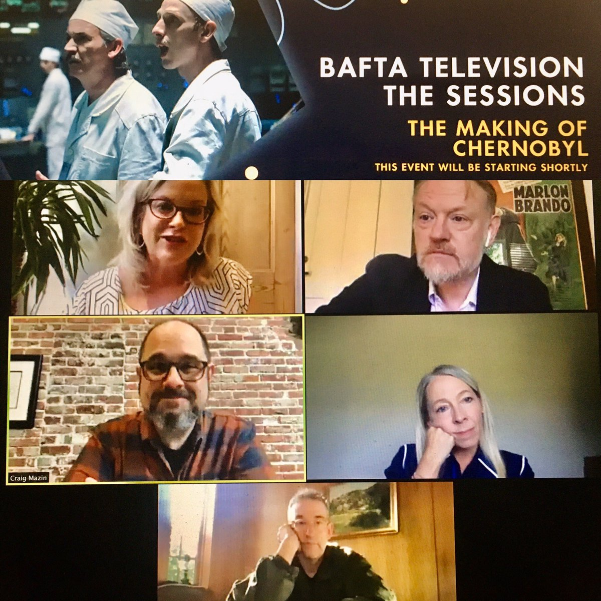 """What a great start to @BAFTA #baftatvsessions with The Making of #Chernobyl. So much insight from writer/ creator @clmazin, director @johanrenck, actor @JaredHarris, exec producer Jane Featherstone. Their considered verdict on fake accents: """"tremendously stupid"""" and """"bullshit!"""" https://t.co/LqvzWExn9w"""