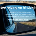 Image for the Tweet beginning: Don't rely on hindsight to
