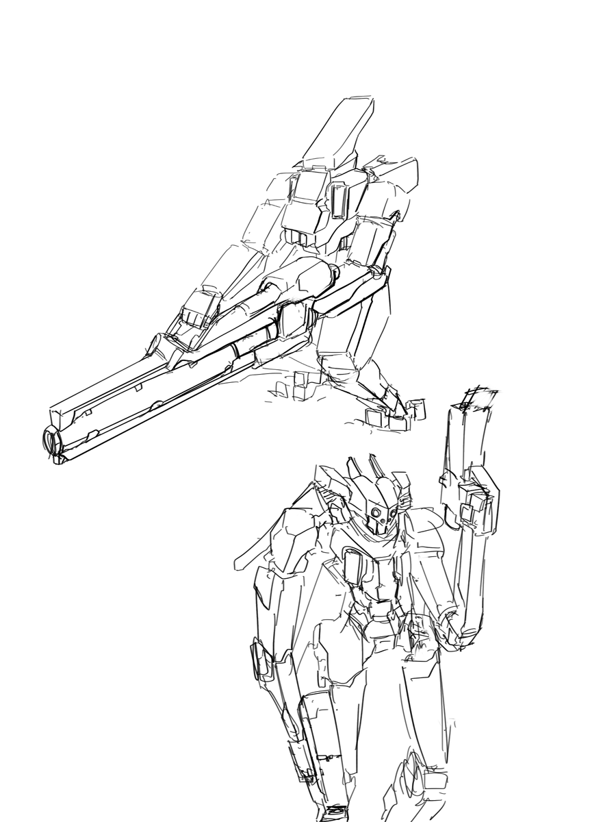 Some more old mech sketches from a setting I stopped working on a little while ago pic.twitter.com/DuawgLWSg6