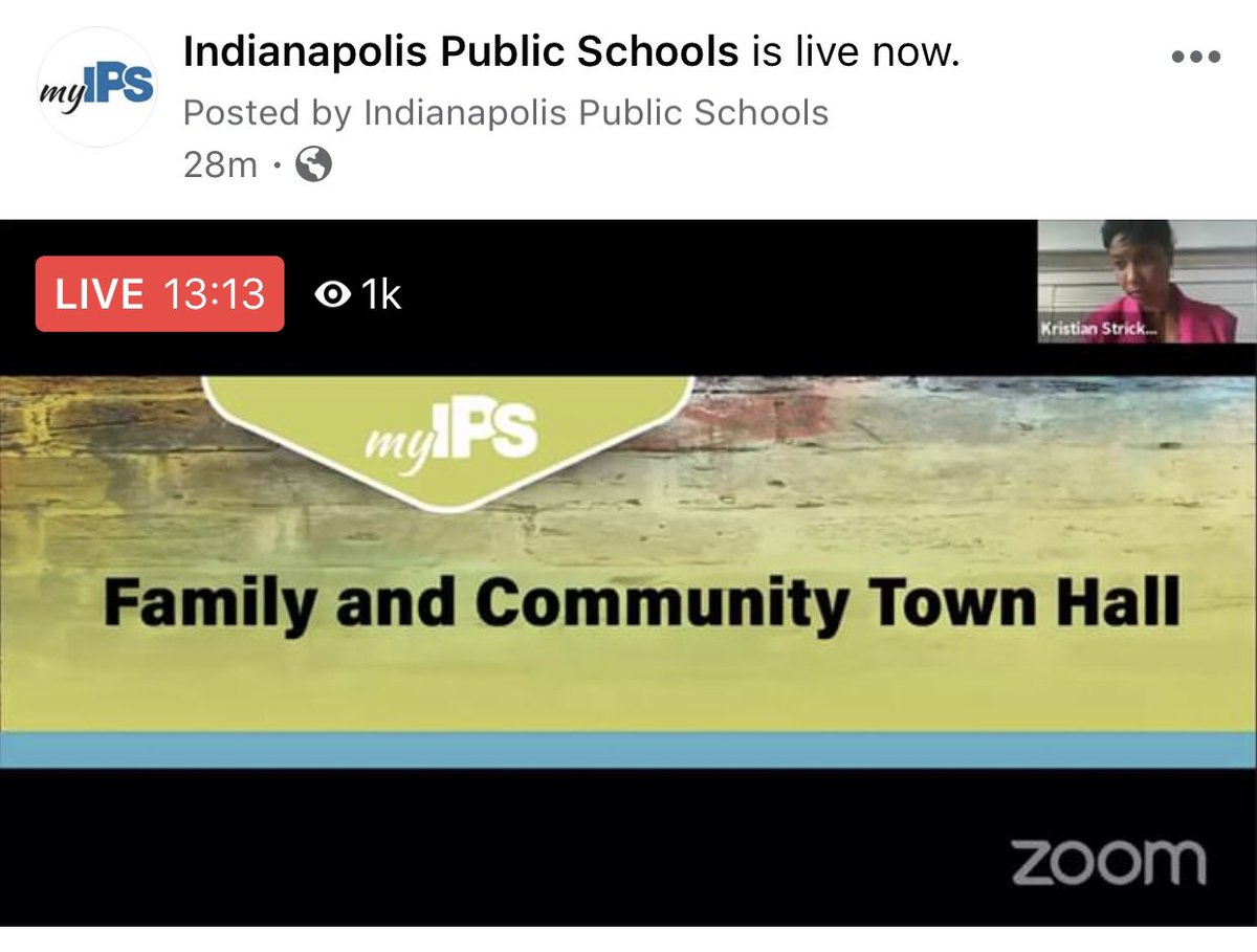 We are live! Tune in at Facebook.com/IPSSchools