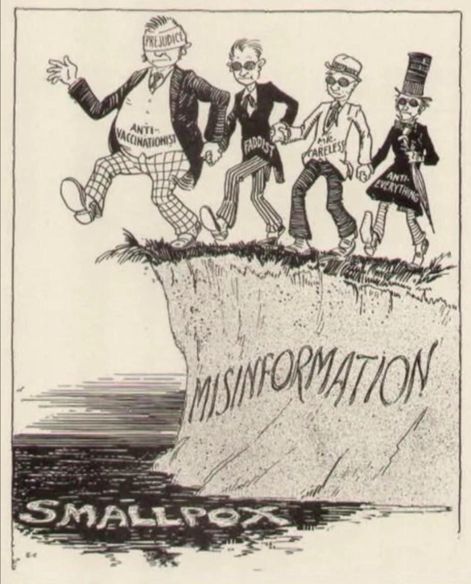 Honestly, we could just recycle some of the smallpox and Spanish Flu ads & cartoons today. https://t.co/t5IwoUNfAm
