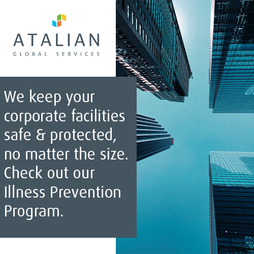 Before your business re-opens, consider a professional disinfecting and sanitizing routine so we can #stopthespread together! We're booking Pre-Opening Services. For more information, please contact⁠ info.us@atalianworld.com. #inthistogether #covid19outbreak #illnessprevention https://t.co/OS9pkaE8Ok