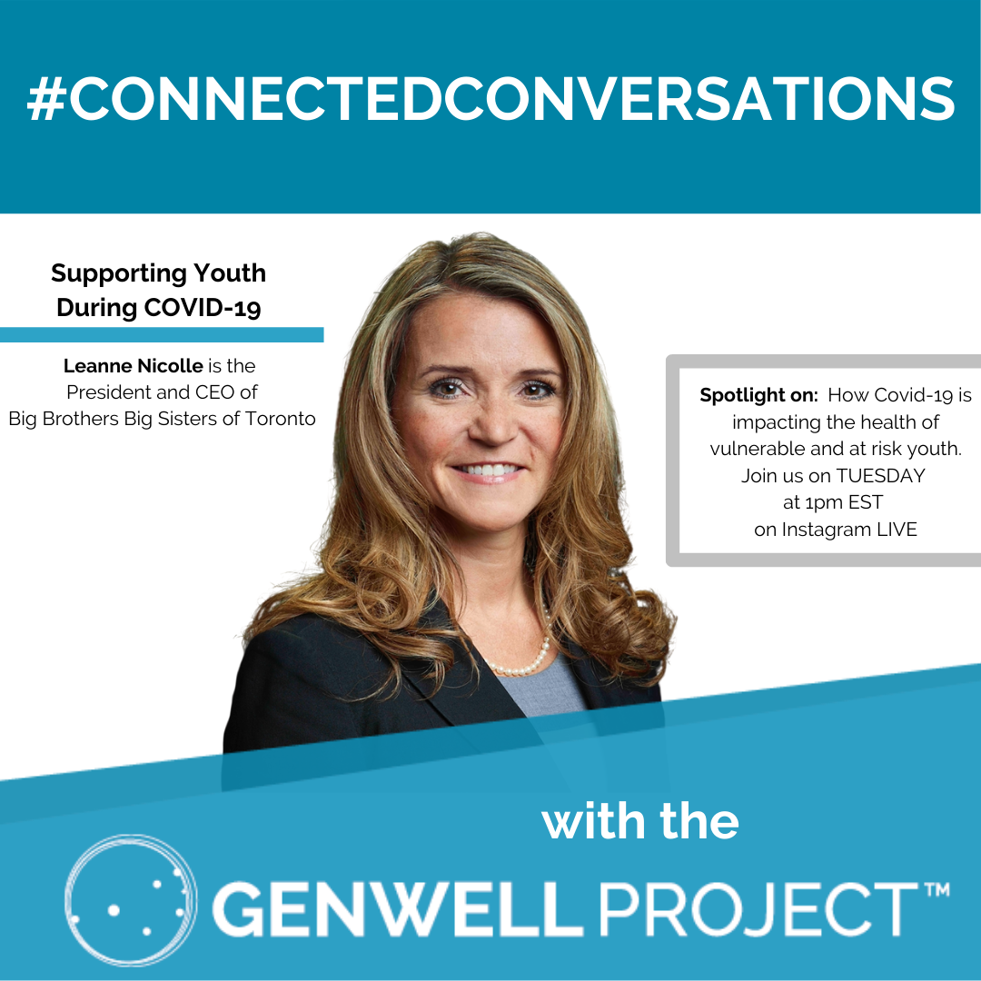 Join us for #connectedconversations with Leanne Nicolle from  @BBBSToronto TOMORROW at 1pm EST on Instagram Live to chat about how COVID-19 is impacting the health of vulnerable and at risk youth. #InThisTogether  #Youth #BBBS #HumanConnectionMovement https://t.co/B3WD1jaIAf