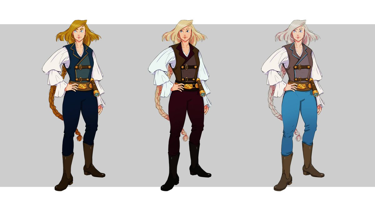 Aaaand finally the last character for the #boxofmystery challenge on #artstation  Her name ist Zodia.   Which version is your favorite? ;)  #artistsontwitter #characterdesign #artchallenge https://t.co/afVBddij73
