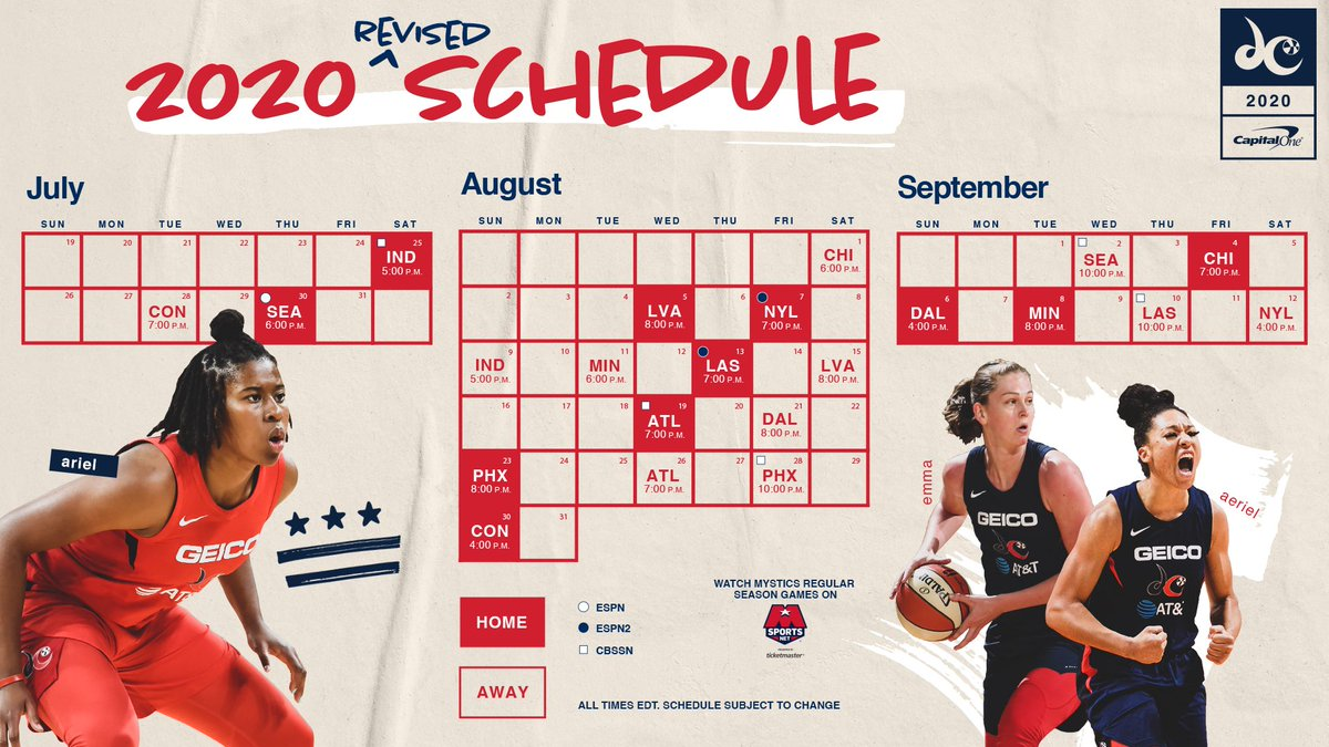 THE DAY YOU'VE BEEN WAITING FOR 🚨🚨🚨 #SticsSZN starts July 25!  Download 🗓 >> https://t.co/btXDBcpkiL  #TogetherDC #ApplyPressure https://t.co/9aJeixHkko