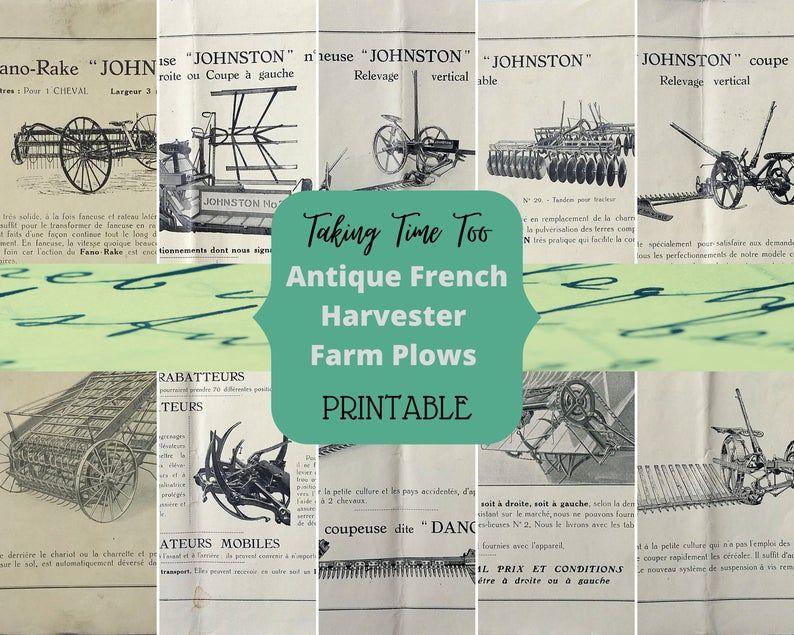 Antique FRENCH FARM PLOWS leaflet from Johnston Harvester | Etsy https://buff.ly/3eiYTWh #TakingTimeTo #Frenchprintables #vintageFrench #Frenchephemera #ephemera #printables #crafting #junkjournal #scrapbook  #farming #farmtools #tractors #farmerscard #countrylifepic.twitter.com/c8vdRaU5c5