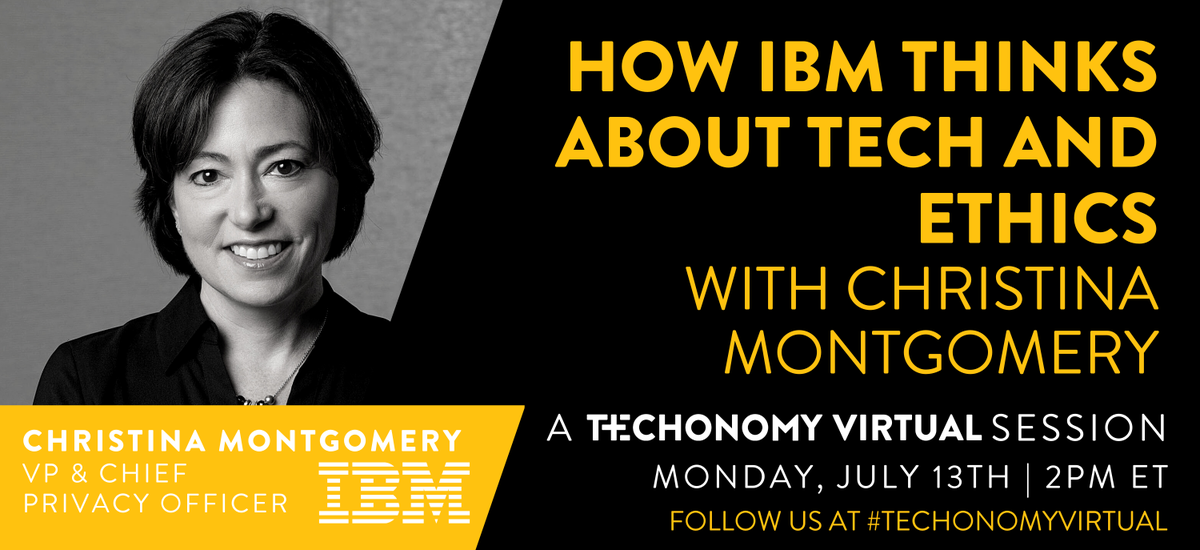 .@IBM recently announced it would no longer offer #facialrecognition software. Join our live discussion with IMB's Christina Montgomery to share where you stand on this controversial technology. #TechonomyVirtualpic.twitter.com/0HpEmL1oNT
