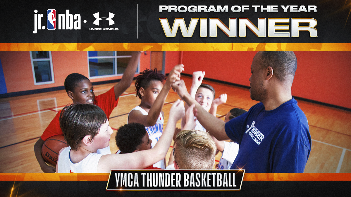 Congratulations to our 2020 #JrNBAProgramOfTheYear pres. by @UABasketball, YMCA Thunder Basketball!  With the @okcthunder and statewide @ymca branches, YMCA Thunder delivers a healthy lifestyle for its athletes both on and off the 🏀 court! https://t.co/ZhhSsrdDbs