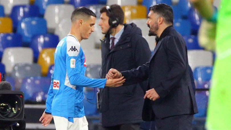 """#Napoli, il ds #Giuntoli su #Callejon e #Gattuso:  """"Lo spagnolo sa che questa è casa sua. Conosce la nostra posizione e deciderà con calma cosa vorrà fare.  Con Gattuso abbiamo rimandato ogni decisione a fine stagione, ma entrambe le parti hanno la volontà di continuare insieme"""".pic.twitter.com/7aOS4YNxCi"""