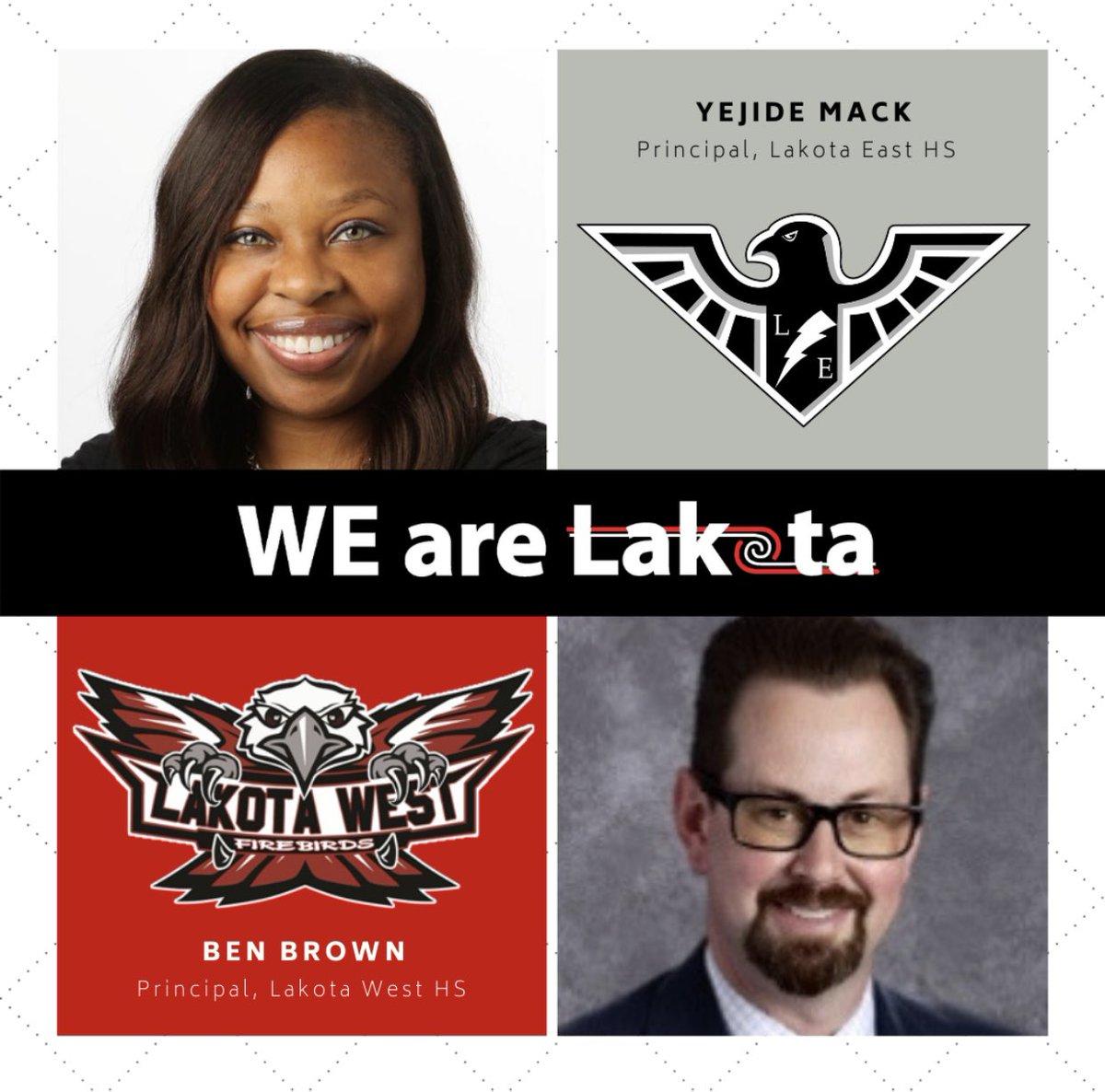 The Firebird Family welcomes new Lakota West Principal, Mr. Ben Brown and new Lakota East Principal, Dr. Yejide Mack!! #WEareLakota  #WeAreInThisTogether https://t.co/FvsJkuL4dG https://t.co/QkUElbdJCD
