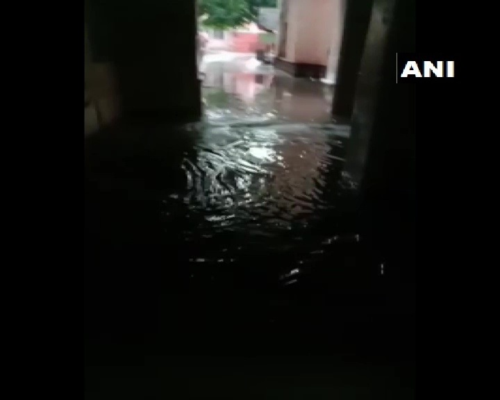 Telangana: Rainwater entered the state-run Osmania General hospital in Hyderabad, yesterday (13th July).