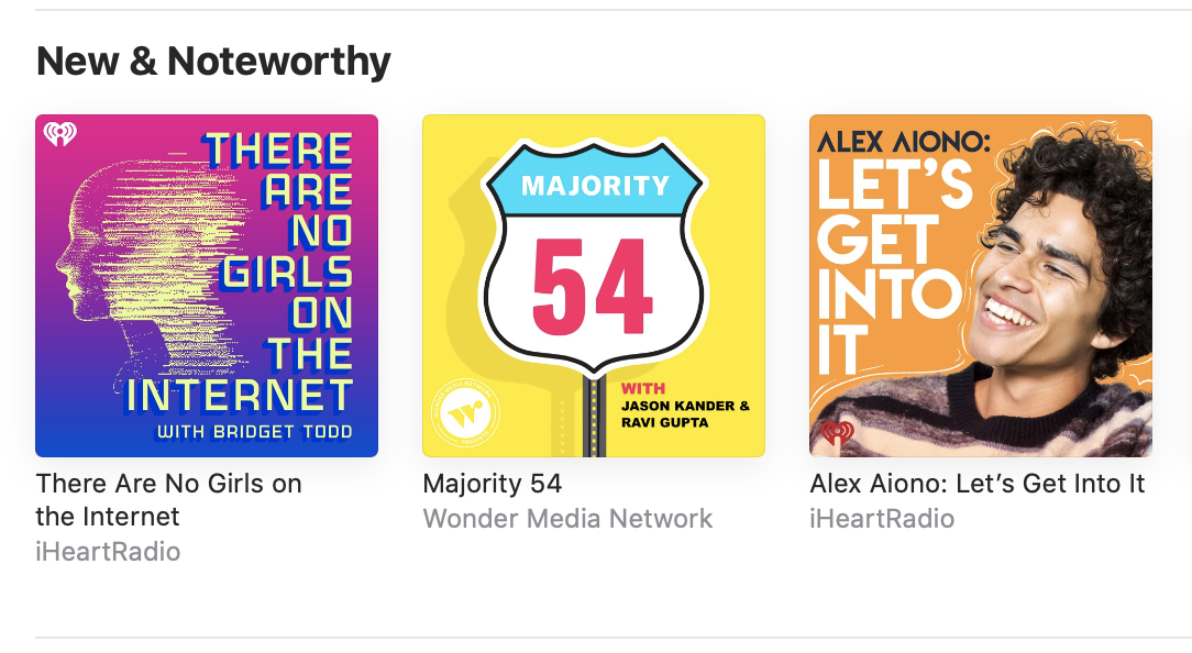 OH HAY WHAT'S UP #1 SLOT ON @APPLEPODCASTS' NEW & NOTEWORTHY!   If you really wanna help me out, rate & review here: https://t.co/9bqfONvMU6 https://t.co/MY2w3ii3OL