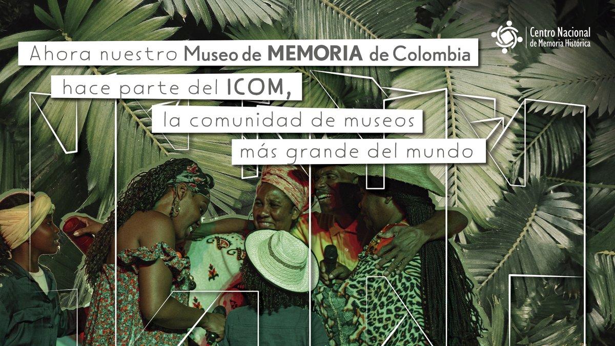 #CNMHInforma  Ahora el @MuseoMemoria_Co hace parte del @IcomOfficiel, la comunidad de museos más grande del mundo. La adhesión del Museo al ICOM es clave para avanzar en la creación, desarrollo y gestión profesional del Museo   Más información aquí: https://t.co/CvlTfF0yUi https://t.co/MGuW6FNuZG