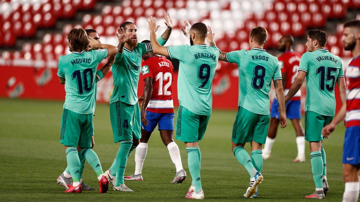 بشق الانفس ريال مدريد ينتصر على غرناطة ويقترب من حلم تحقيق اللقب