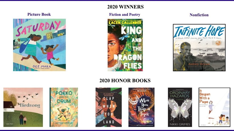 Pick up a 2020 Boston-Globe @HornBook award winner at #AlkekLibrary http://tinyurl.com/alkek-bghb  || https://guides.library.txstate.edu/juvenileliterature … #ChildrensLiterature #PictureBooks #YoungAdultLiterature #JuvenileLiterature #YALit pic.twitter.com/IcmSb8tgaF