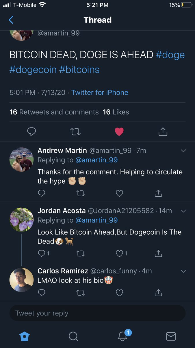 @JordanA21205582 WE DONT WANT NO ONE ON THE FENCE/FAKES. YALL bit-coiners can stay there.WE GOOD OVER HERE. #doge #dogecoin #DV #thedogeaintdead #everydogehasitsday #bitcoin #btc #btcc #cryptocurrency #dogecointo1cent https://t.co/fqNPfARyQ8