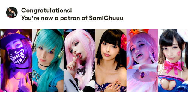 Yay! I just become a patron of @samichu18 ✨   You guys need to check her content, she definitely deserve more attention and followers  🤠👌  https://t.co/pX5wSydjtl https://t.co/E6vEg09EHf