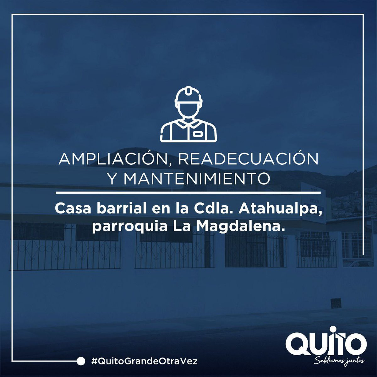 .@MunicipioQuito renueva las casas comunales del barrio Hermanos Cristianos y Ciudadela Atahualpa en la @zonaeloyalfaro a través de Presupuestos Participativos. Conoce el antes y el después de esta obra. Trabajamos por un #QuitoGrandeOtraVez. https://t.co/abSZnJzrKX