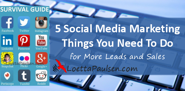 5 tings you need to do on #socialmedia to get leads and sales. Get your Survival Guide Now > https://t.co/t05iHXSidy https://t.co/3iuDCFgn8q
