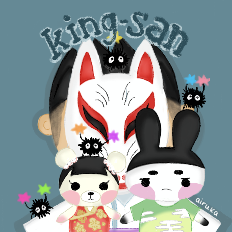 commission for @acnh_kingsan ❤️ i added soot sprites for their spirited away inspired island and and and it's so cute i'm-#acnh #acnhart #マイデザイン #どうぶつの森