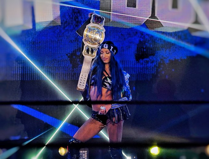 2 pic. The greatest tag team of all time, in the history of all time!! #sasha3shows #2beltzbanks #LegitBoss