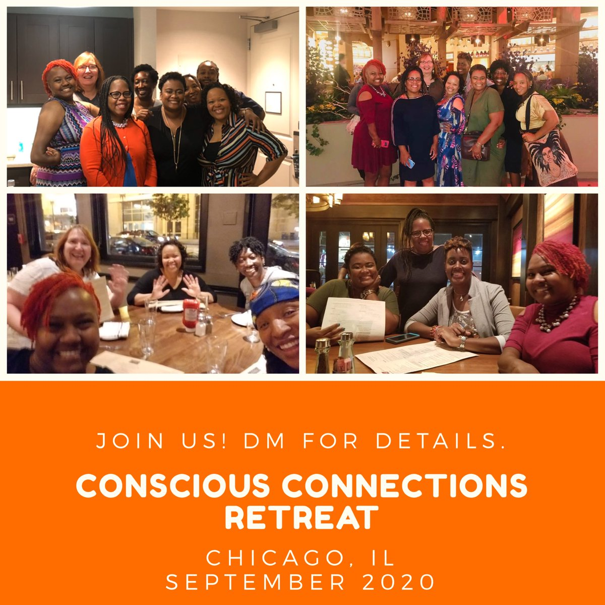 The Chicago C4C Conscious Connections Retreat registration remains open. The retreat will be held September 2020. Deposit is due with your registration submission. If interested, send us a DM. Consider joining us in Chicago! #c4ctravel #c4ctravel2020  #c4cglobal1pic.twitter.com/NJP0W1vO9d