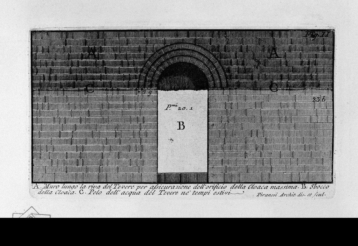The Roman antiquities, t. 1, Plate XXII. Cloaca Maxima., 1756 #neoclassicism #giovannibattistapiranesipic.twitter.com/JyIasmc4om
