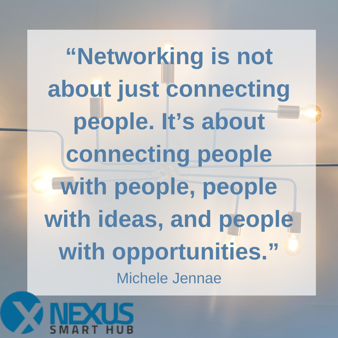 Networking is one of the greatest benefits!  You'll never know who may be in the space next to you and a casual conversation can build into a collaborative partnership!⠀  #nexussmarthub #workstation #coworkingspace #workbenefits #networkingbusiness #businessnetworkingpic.twitter.com/Hf42J396iw