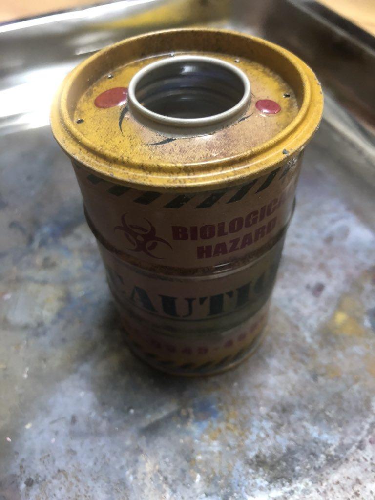 おはようございまーす(*´ー`*) ドラム缶でアルコールストーブ 作ってみた(*゚∀゚*) #キャンプ #アウトドア  #アルコールストーブ  #DIY #キャンプ好きと繋がりたいpic.twitter.com/YD4qLz2Qhd