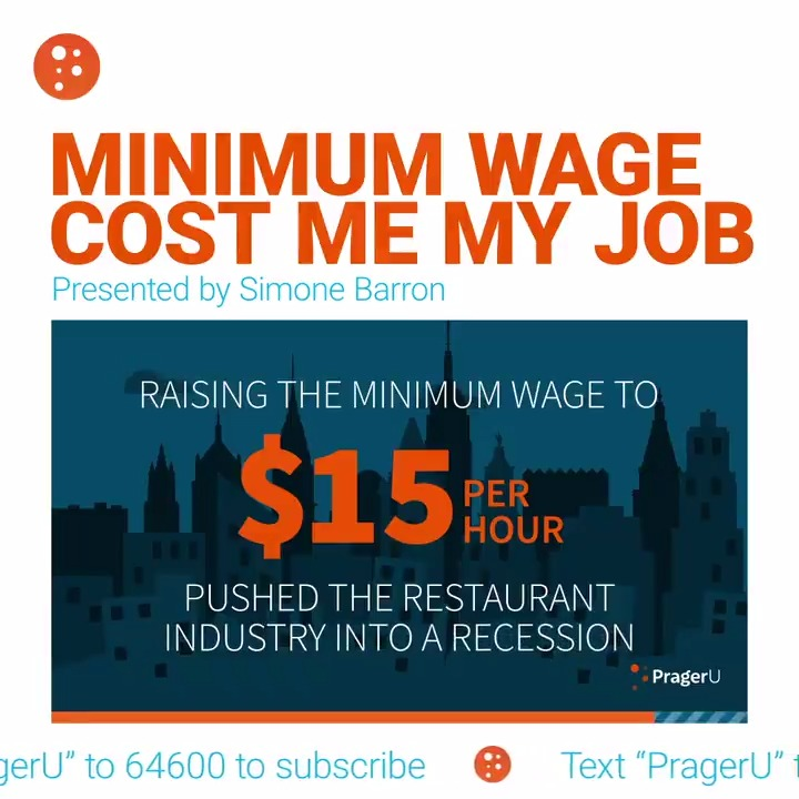 Image for the Tweet beginning: A higher minimum wage sounds