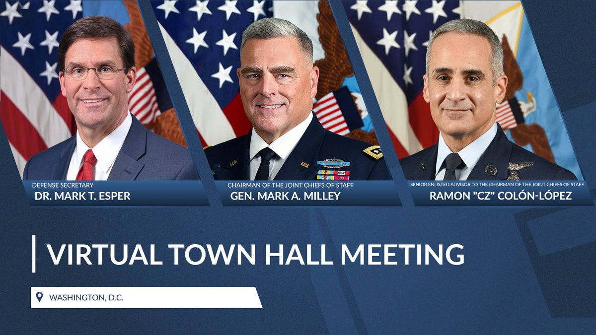 We will be hosting an open-forum town hall this week. If you have questions about your military (on recent events, COVID, developments in the South China Sea, civil unrest, etc.), please post them as a comment. Be sure to include your full name & where you're stationed or living.