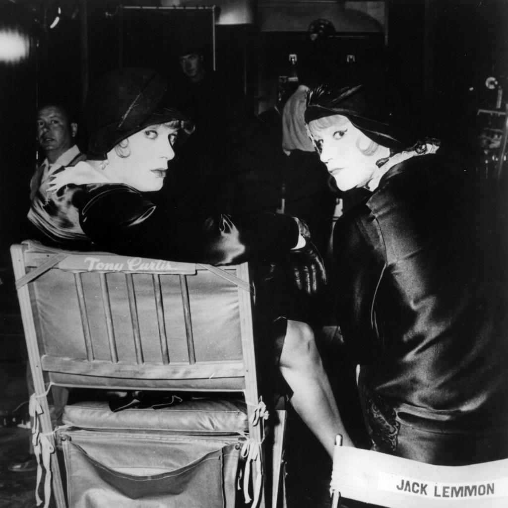 Star of the Month Tony Curtis and Jack Lemmon on the set of SOME LIKE IT HOT (59).