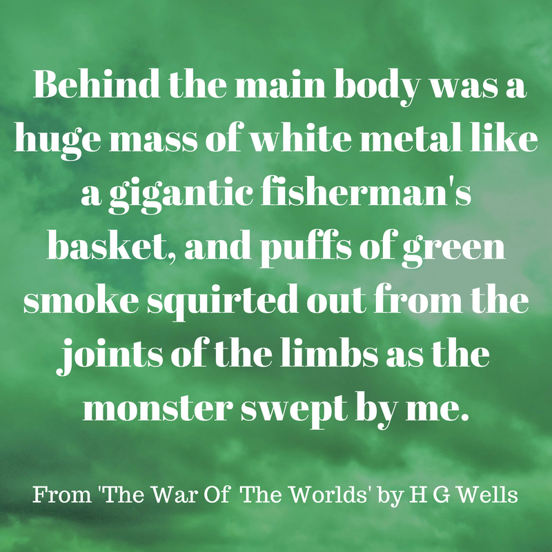 HG Wells vivid description of a Martian tripod encountered on the outskirts of his home town of Woking, Surrey. Chapter 10 The War Of The Worlds #scifi #alieninvasion