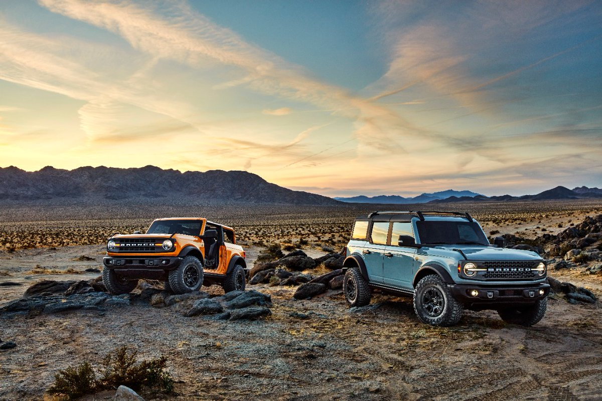 BAM! All-New 2021 Bronco Two-Door And First-Ever Four-Door Models: Built Wild SUVs With Thrilling 4x4 Capability, Ready For Fun: media.ford.com/content/fordme… #FordBronco