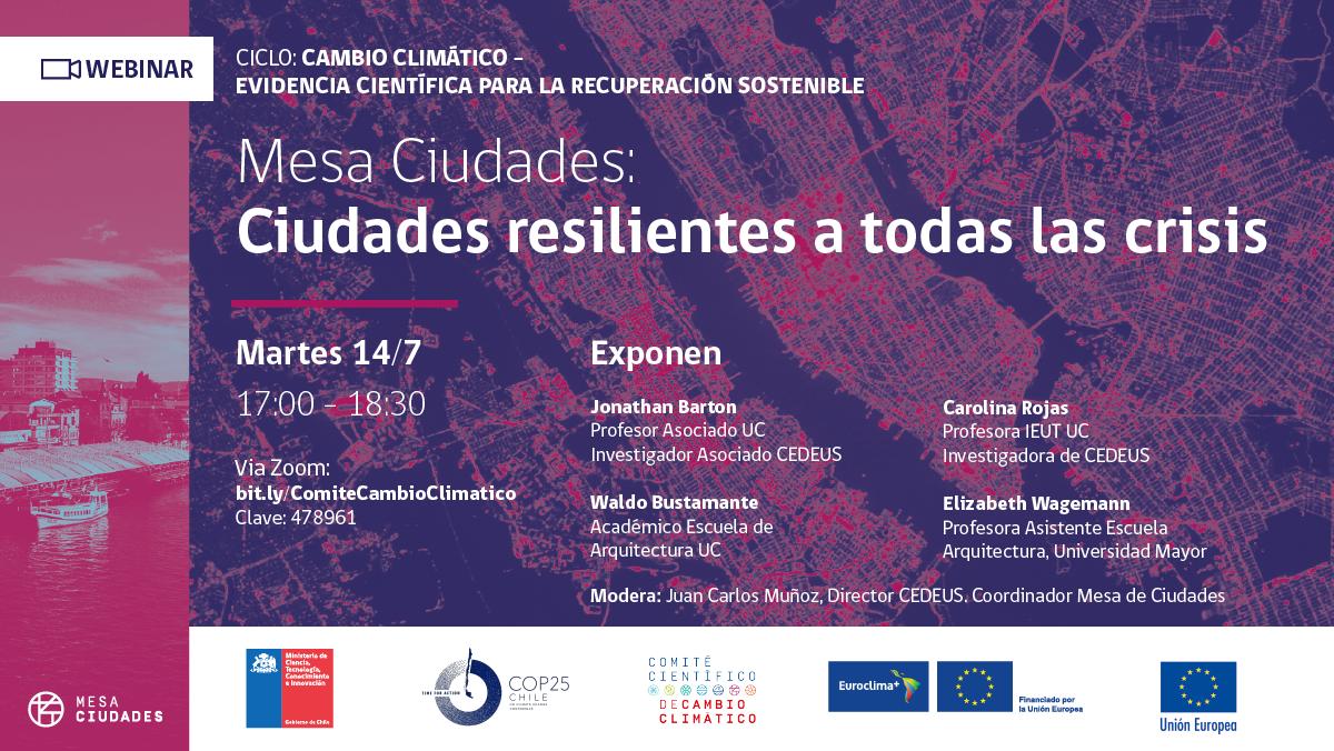 Comité Científico de #COP25 inicia ciclo de charlas sobre cambio climático bit.ly/2ZnW9CU ¡Los esperamos mañana en un nuevo webinar! 👇