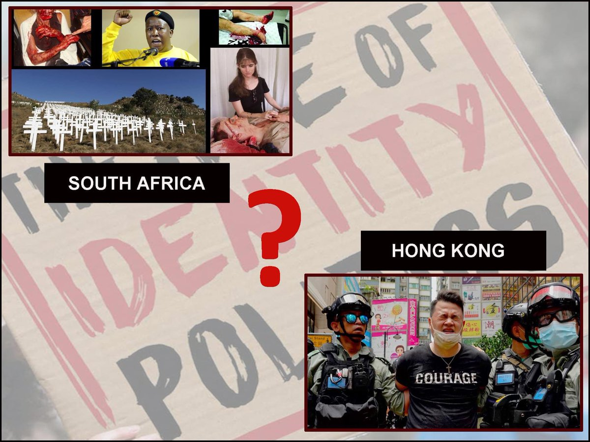 1/2 Why has the Aus gov sent out an SOS to persecuted HongKongers yet failed to open its arms to persecuted white SthAfrican farmers? Could it possibly be, that the 'white' Sth African farmer is the wrong colour & the persecutor is Black   #SouthAfricanFarmers #hongkongprotest https://t.co/l5EbUMV5pn