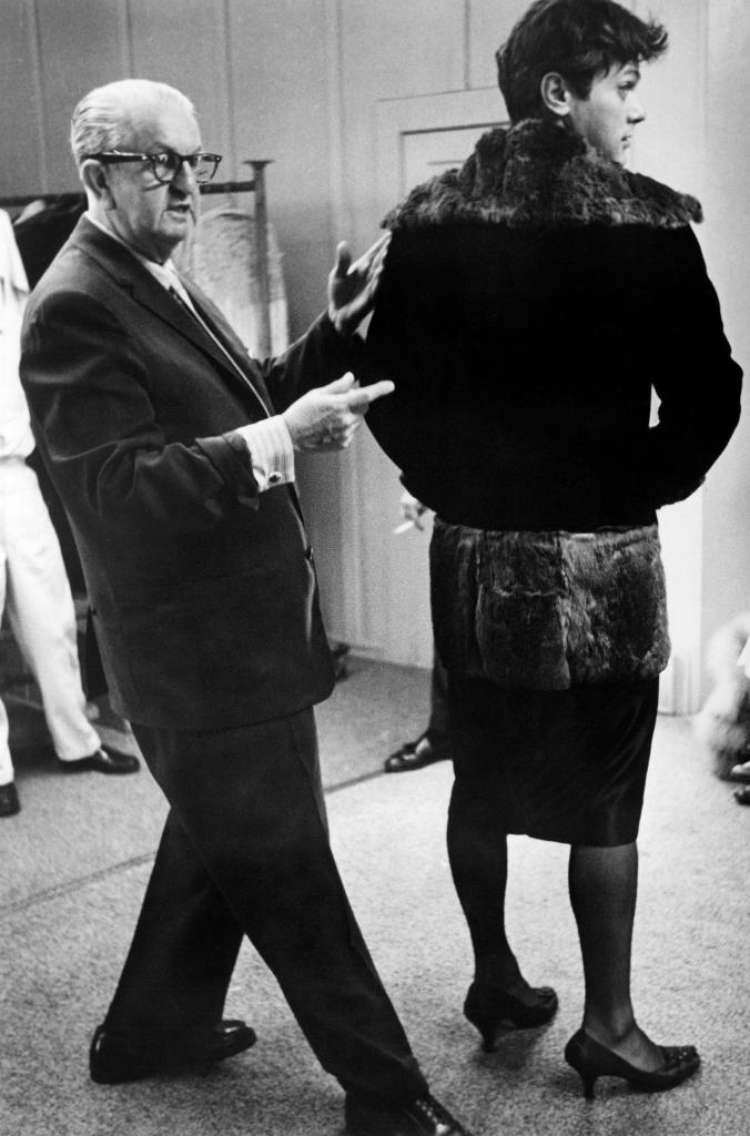 Tony Curtis and Orry-Kelly during a costume fitting for SOME LIKE IT HOT (59). Curtis said, They wanted us to select off-the-rack stuff from the costume department. We said we wanted dresses done by Orry-Kelly, who was doing Monroe's costumes and Billy (Wilder) said, Okay.