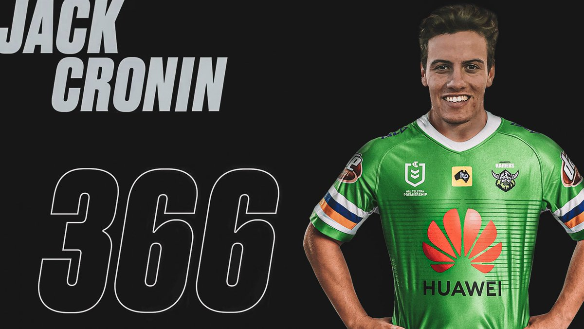 """""""The best part about my job is handing a debut to a deserving young player."""" Read what Ricky Stuart had to say about our latest debutant, as he announced that boom rookie Jack Cronin will become Raider #366 this Thursday night. 👉🏻 raiders.com.au/news.../ #WeAreRaiders"""