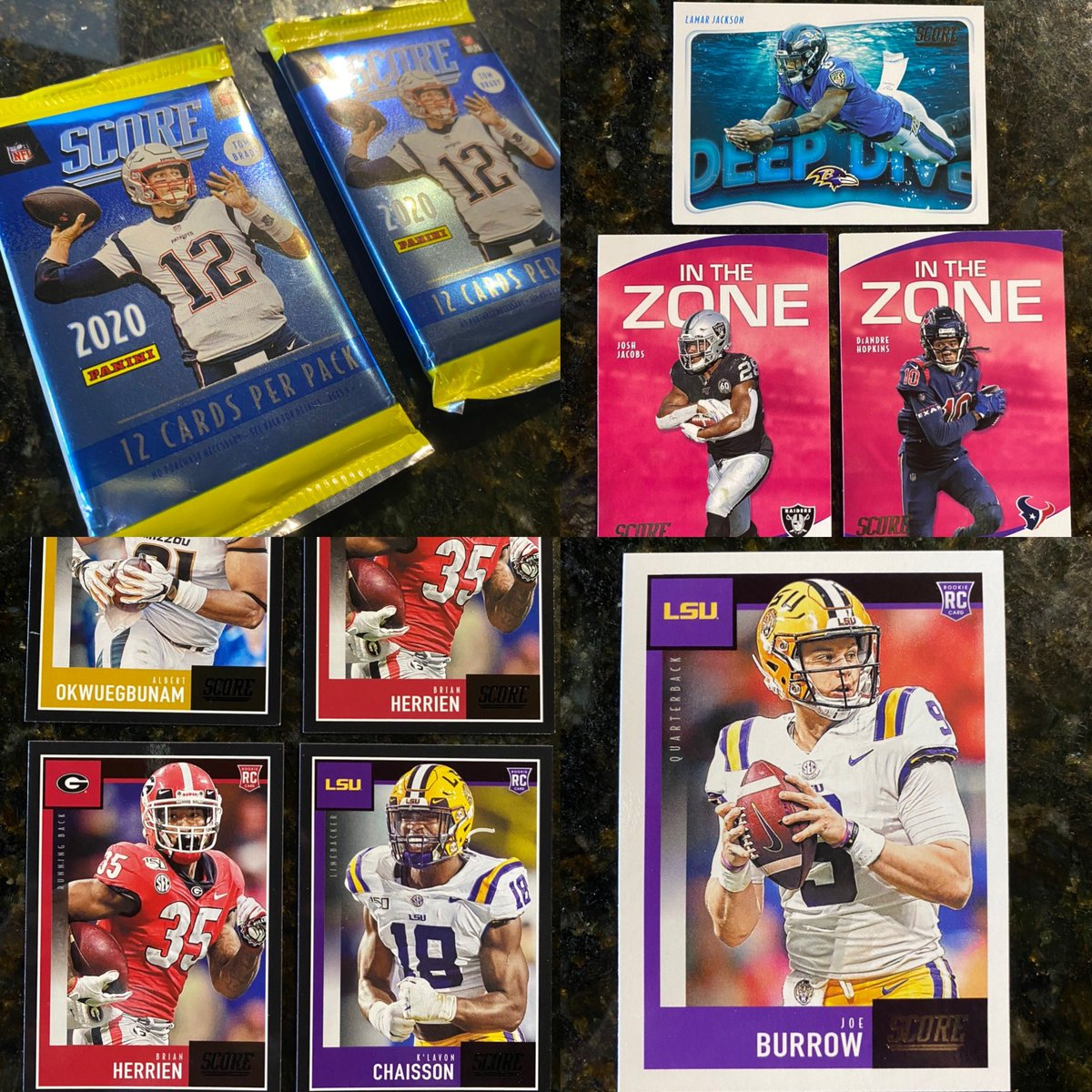 VERY confident they've been felt up and weighed, but packs are shiny! Screw it - Lets grab 2! #WhoDoYouCollect #nfl #TheHobby #Cards #Collecting #SportsCards  #football #2020score #score #scorefootball #footballcards #2020nfl #joeburrow #rookiecard #rookiecards #lamarjackson https://t.co/pmeG6MVtnF