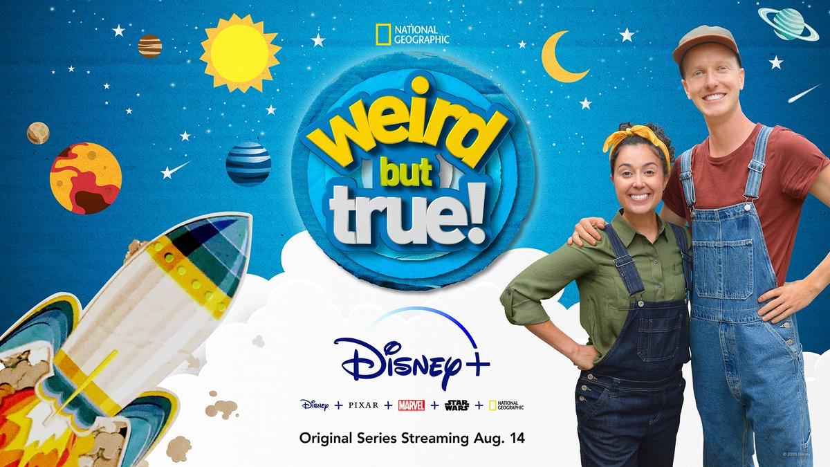 Embark on an imaginative adventure.💡🌎 The Emmy Award-winning Original Series, Weird But True!, starts streaming with all-new episodes Aug. 14 on #DisneyPlus. #WeirdButTrueSeries