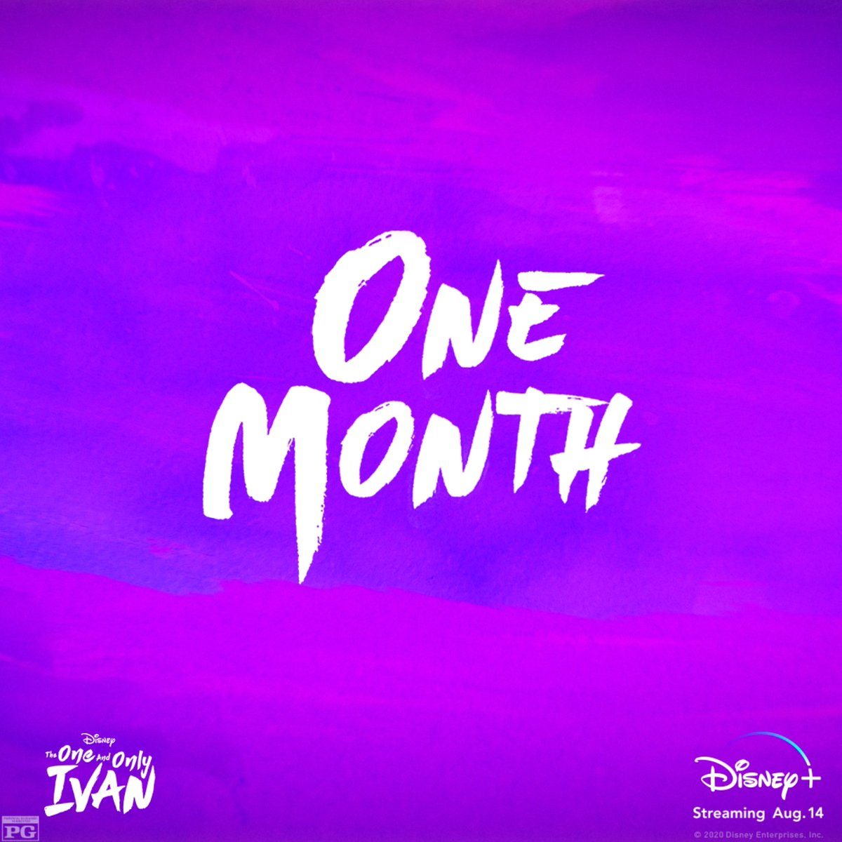 In only one month... meet The One and Only Ivan. 🦍🎪 Streaming exclusively on #DisneyPlus starting August 14. @IvanMovie