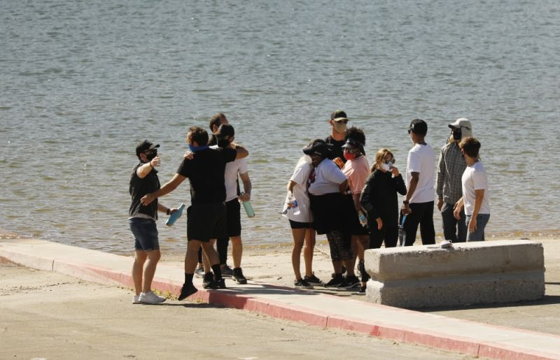 Cast of Glee And Naya Rivera's Family At Lake Piru To Honor & Pay Tribute To Naya