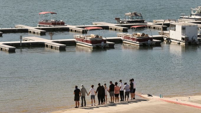 Cast of Glee And Naya Rivera's Family At Lake Piru To Honor & Pay Tribute To Naya