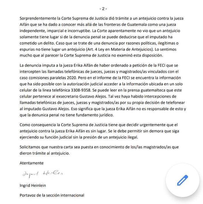 test Twitter Media - La Asociación de Jueces y Magistrados de Alemania se pronunció respecto a la independencia judicial y a la jueza Erika Aifán. https://t.co/fdvr30sf3o