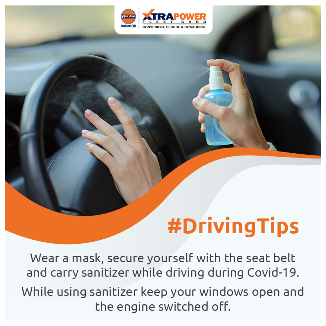 #Drivingtips  While #driving, follow these measures to stay safe from COVID-19 .  #XTRAPOWER #StaySafe #Covid_19 #safetravels #SafetyFirst #sanitizer #WearMask @IndianOilcl @IndianOil_Highw @IOCRetailpic.twitter.com/rRjM3wgd4S