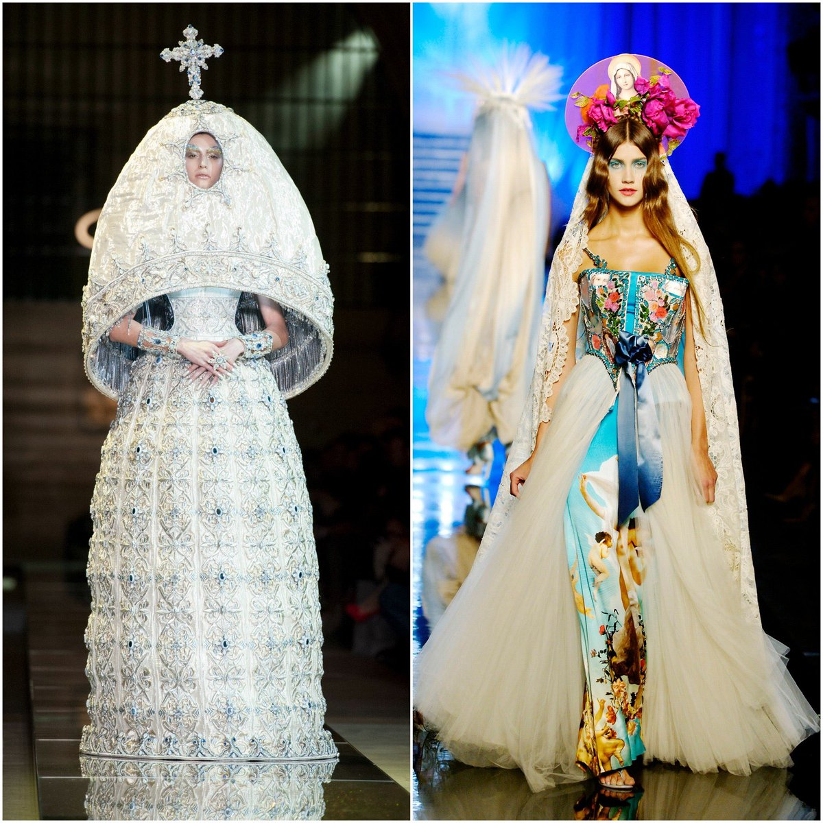 Hell, at this point every Religious artifact that has been displayed in a museum, film, clothing, western music video, etc needs removed according to all of your logic. And have you all seen this Metgala? Where was the same energy for that? Stop with being fake woke. <br>http://pic.twitter.com/yxe1gt14GP